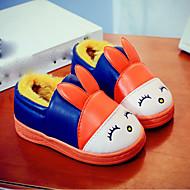 baratos Sapatos de Menina-Para Meninas Sapatos Couro Ecológico Inverno Conforto Rasos para Verde / Azul / Rosa claro