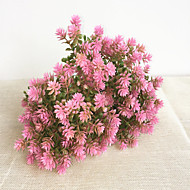 22cm 10 stk 5 blader / pc hjemme dekorasjon kunstige blomster cambomba caroliniana