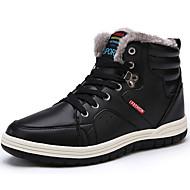 Heren Schoenen Nappaleer Winter Comfortabel Laarzen Veters Voor Zwart Donkerblauw Bruin