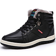 Masculino sapatos Pele Napa Inverno Conforto Botas Cadarço Para Preto Azul Escuro Marron