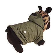 Pas Kaputi Odjeća za psa Leopard Zelen Pamuk Kostim Za kućne ljubimce Muškarci Žene Ležerno/za svaki dan