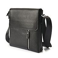 cheap Bags-Men's Bags Cowhide Briefcase Zipper for Office & Career Black / Brown
