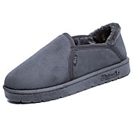 Dames Schoenen Rubber Lente Herfst Comfortabel Slippers & Flip-Flops Ronde Teen Voor Zwart Grijs Geel Bruin Blauw