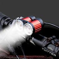 Sykkellykter LED XM-L2 T6 Sykling Bærbar LED Lys AAA Lumens 4 AA Batterier Hvit Camping/Vandring/Grotte Udforskning Dagligdags Brug