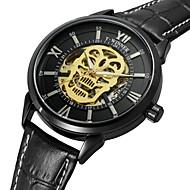 WINNER Homens Relógio Elegante Relógio de Pulso Relógio de Moda Automático - da corda automáticamente Impermeável Gravação Oca Caveira