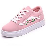 preiswerte -Damen Schuhe PU Winter Komfort Sneakers Runde Zehe Für Normal Schwarz Grau Rosa
