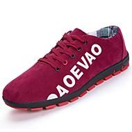 Homens sapatos Couro Ecológico Primavera Verão Conforto Tênis Corrida para Atlético Casual Preto Cinzento Vermelho Azul