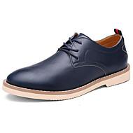 メンズ 靴 ナパ革 レザー 春 秋 コンフォートシューズ オックスフォードシューズ 用途 カジュアル ブラック ダークブルー Brown