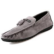 tanie Obuwie męskie-Męskie Buty PU Zamsz Zima Jesień Mokasyny Comfort Mokasyny i pantofle na Casual Black Gray