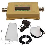 mini intelligent LCD-skjerm dcs980 1800mhz mobiltelefon signal booster repeater med utendørs logg periodisk antenne / innendørs tak