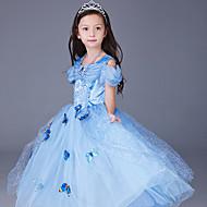 Χαμηλού Κόστους Men-Πριγκίπισσα / Cinderella / Παραμυθιού Στολές Ηρώων / Κοστούμι πάρτι Χριστούγεννα / Halloween / Απόκριες Γιορτές / Διακοπές Κοστούμια Halloween Μπλε Απαλό / Κίτρινο / Ροζ Στάμπα / Σιφόν