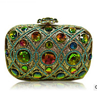 Women Bags Polyester Evening Bag Buttons Crystal Detailing for Casual All Season Rainbow