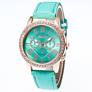 Mulheres Simulado Diamante Relógio Relógio de Moda Relógio Casual Chinês Quartzo Relógio Casual Borracha Banda Casual Elegant Natal Preta