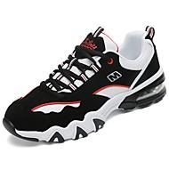 Dames Schoenen PU Winter Herfst Comfortabel Sportschoenen Hardlopen Ronde Teen voor Sportief Causaal Wit Zwart zwart/wit Zwart/Rood Zwart