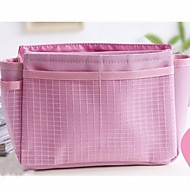 Polyester Geometric Cosmetic Bag Pockets for Outdoor All Season Pink
