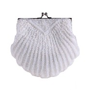 cheap Wedding Bags-Women's Bags Polyester Evening Bag Beading / Pearls for Wedding / Event / Party White / Black