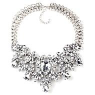 Dame Kvadratisk Zirconium Geometrisk Halskædevedhæng - Krystal Elegant Hvid, Sort Halskæder Til Bryllup, Ceremoni