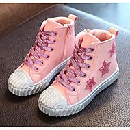 בנות נעליים מיקרופייבר PU סינתטי סתיו חורף נוחות מגפיים אופנתיים מגפיים עבור קזו'אל שחור כסף ורוד