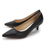 baratos Sapatos Femininos-Mulheres Sapatos Pele de Carneiro Primavera / Outono Conforto Saltos Azul / Rosa claro / Nú