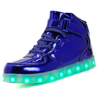 cheap Boys' Shoes-Boys' Shoes Patent Leather / Customized Materials Summer Comfort / Light Up Shoes Sneakers Lace-up / Hook & Loop / LED for Black / Blue /