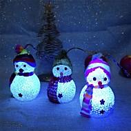 1pcのクリスマスの装飾の色は変わるled雪だるま気分のランプxmasの木のパーティーの装飾
