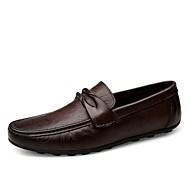 Homme Chaussures Vrai cuir Cuir Nappa Cuir Toute Saison Confort Moccasin Chaussures formelles Chaussures de plongée Mocassins et