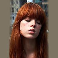 baratos -Mulher Perucas de cabelo capless do cabelo humano Preto mel loira médio Auburn Longo Reto