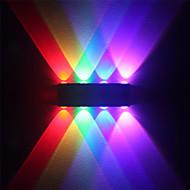moderne 8w ledet vegg sconce innendørs hall opp ned vegg lampe aluminium multicolor