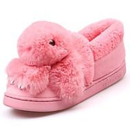 זול כפכפים ונעלי בית לנשים-נשים נעליים גומי חורף נוחות כפכפים & כפכפים בוהן עגולה עבור שחור אפור אדום ורוד