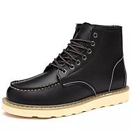 Masculino sapatos Pele Inverno Coturnos Botas Botas Cano Médio Para Casual Preto Khaki Vinho