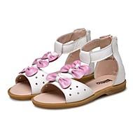 baratos Sapatos de Menina-Para Meninas Sapatos Couro Verão Conforto Sandálias Laço / Velcro para Branco