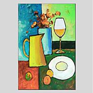 halpa -Maalattu Kukkakuvio/Kasvitiede Moderni 1 paneeli Kanvas Hang-Painted öljymaalaus For Kodinsisustus