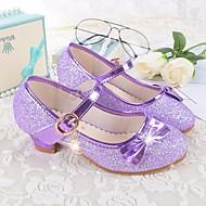 Mädchen Schuhe Mikrofaser Alle Jahreszeiten Schuhe für das Blumenmädchen Flache Schuhe Schleife Für Normal Weiß Purpur Rot