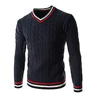 Muškarci Vikend Pullover Jednobojni Color block V izrez