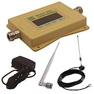 mini intelligent LCD-skjerm gsm980 900mhz mobiltelefon signal booster repeater med utendørs sucker antenne / innendørs pisk antenne gul
