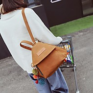 Women Bags Polyester Backpack Zipper for Casual All Season Brown Black Gray