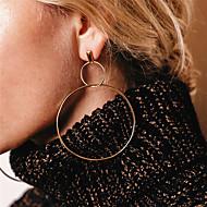Women's Cubic Zirconia Drop Earrings / Front Back Earrings / Ear Jacket - Infinity Oversized Gold / Silver For Party / Daily