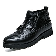 Muške Cipele Prava koža Umjetna koža Proljeće Jesen Udobne cipele Čizme za Kauzalni Crn
