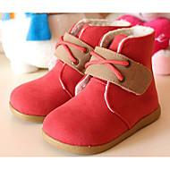 tanie Obuwie dziewczęce-Dla dziewczynek Buty Derma Zima Jesień Comfort Śniegowce Buciki na Casual Purple Coffee Czerwony Niebieski