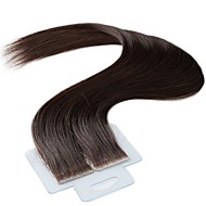 Tape In Human Hair Extensions 20Pcs/Pack 2.5g/pc Medium Brown 20 inch