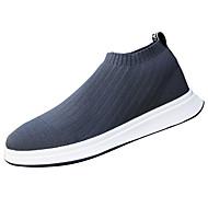 Masculino sapatos Couro Ecológico Primavera Outono Conforto Mocassins e Slip-Ons Para Preto Cinzento Azul