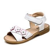 baratos Sapatos de Menina-Para Meninas Sapatos Couro Verão Conforto Sandálias Flor / Velcro para Branco