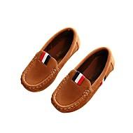 baratos Sapatos de Menino-Para Meninos Sapatos Courino Primavera Conforto Mocassins e Slip-Ons Apliques para Marron / Verde Tropa / Vinho / Casamento