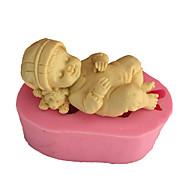 hesapli -Bakeware araçları Silikon Çevre-dostu / 3D Kek / Kurabiye / Tart Bebek uyku Pişirme Kalıp 1pc