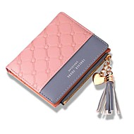 Women Bags PU Wallet Tassel for Shopping Casual All Season Black Red Blushing Pink Light Purple Light Grey