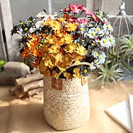 billige Kunstig Blomst-Kunstige blomster 10 Europæisk Tusindfryd Bordblomst / Ikke Inkluderet
