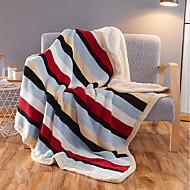 超柔らかい,先染め ストライプ 純綿 毛布