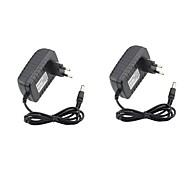 billige Lampesokler og kontakter-2pcs 12v 2a strømadapter 100v-240v ac 12v 2a DC strømforsyningsplugg i bytte eu / us plugg for strips lys