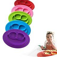 crianças de uma peça de placa de silicone prato prato bandeja de mesa de comida tapete para bebê criança