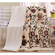 Superweich,Garnfärbung Baumwolle/Polyester Decken
